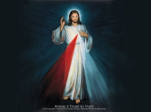 divine mercy color large clear