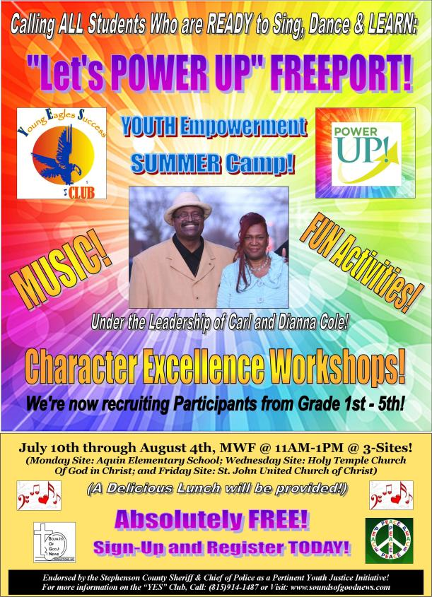 YES Club POWER UP Summer Camp Flier Pic